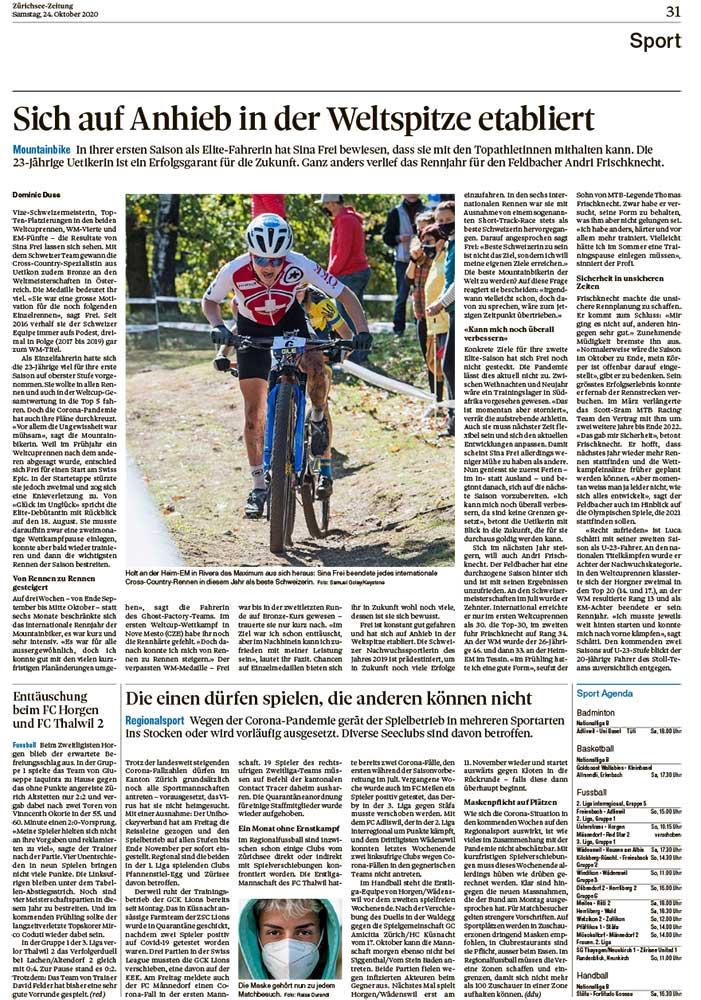 2020-10-24: Zürichsee-Zeitung, Auf Anhieb In Der Weltspitze Etabliert
