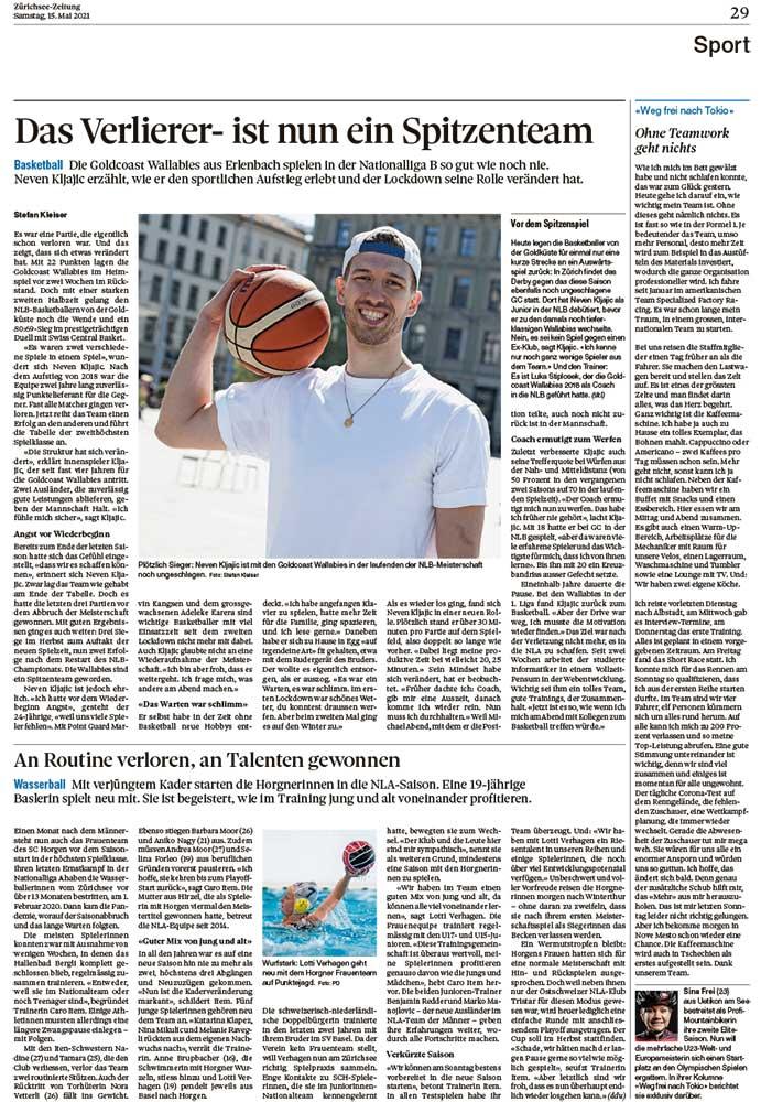 2021-05-15: Zürichsee-Zeitung, Weg Frei Nach Tokio