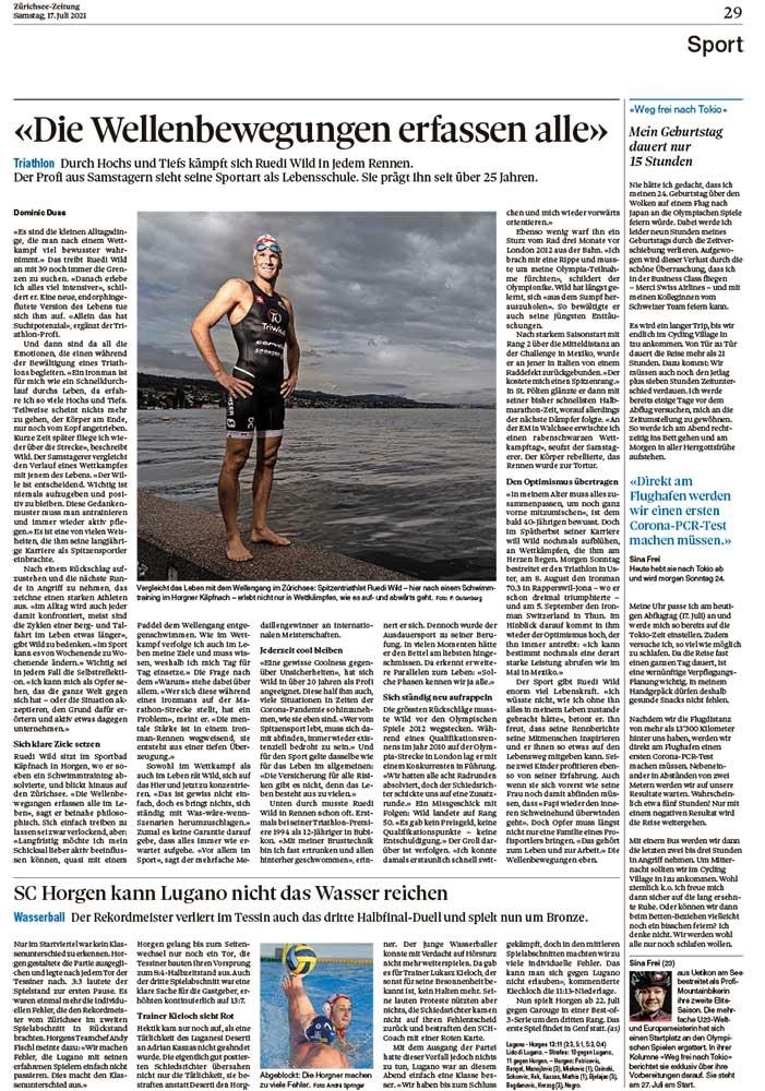 2021-07-10: Zürichsee-Zeitung, Weg Frei Nach Tokio