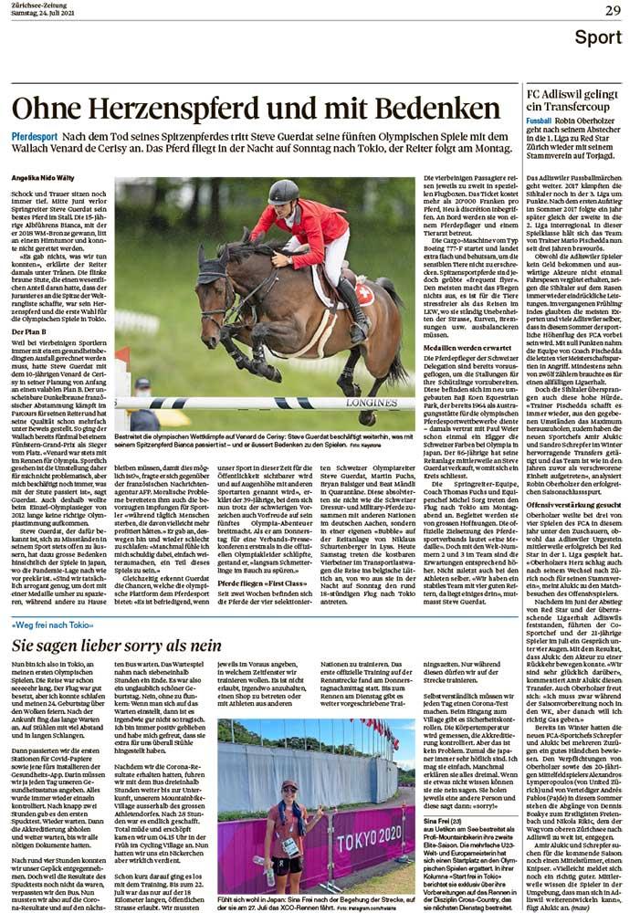 2021-07-24: Zürichsee-Zeitung