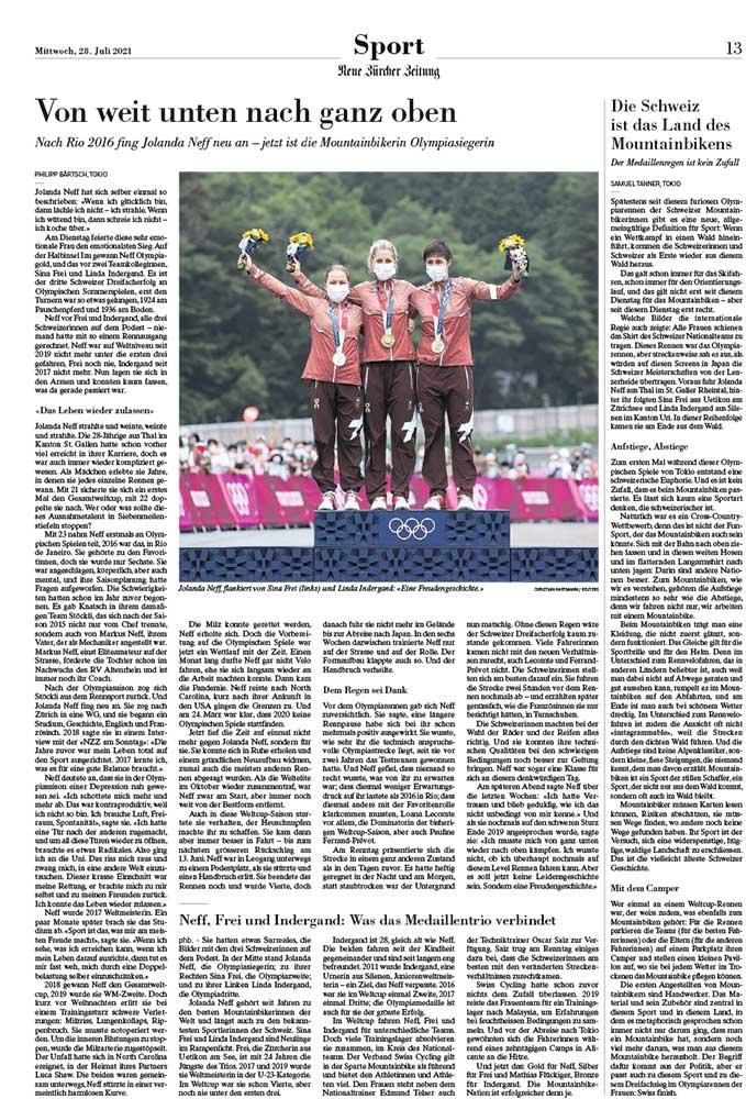 2021-07-28: Neue Zürcher Zeitung NZZ