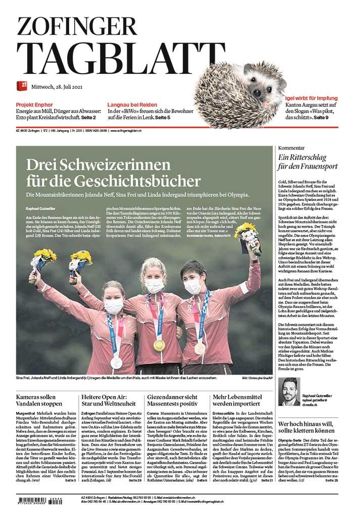 2021-07-28: Zofinger Tagblatt