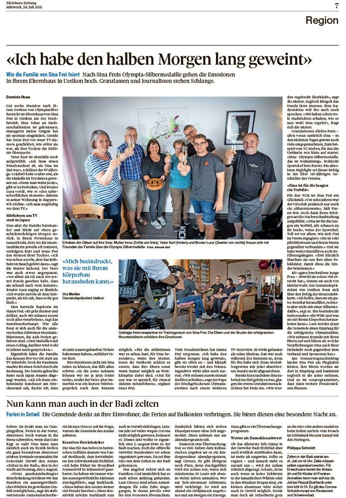 2021-07-28: Zürichsee-Zeitung