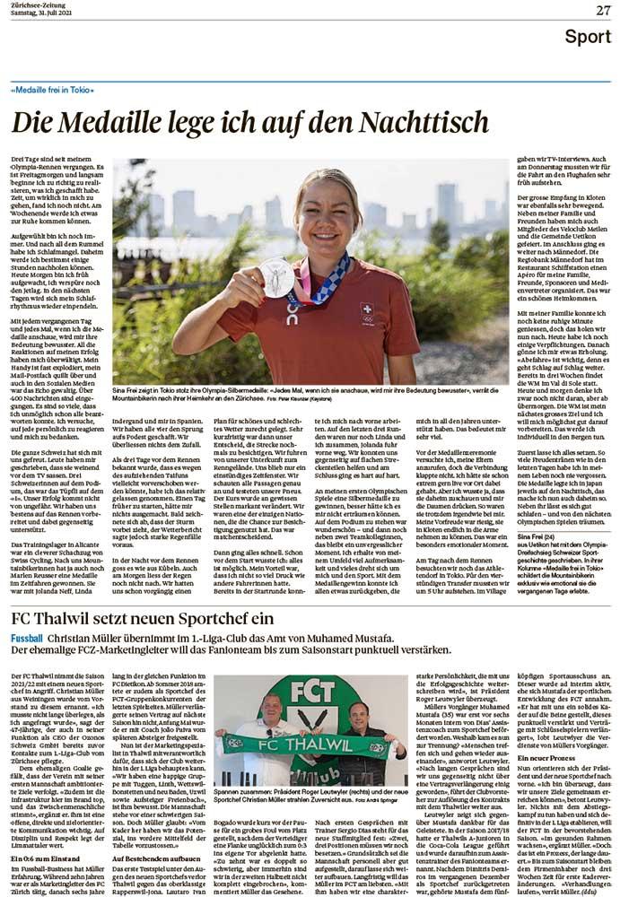 2021-07-31: Zürichsee-Zeitung