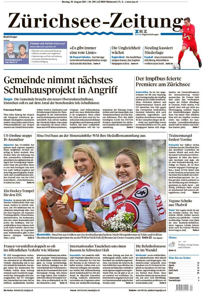2021-08-30: Zürichsee-Zeitung