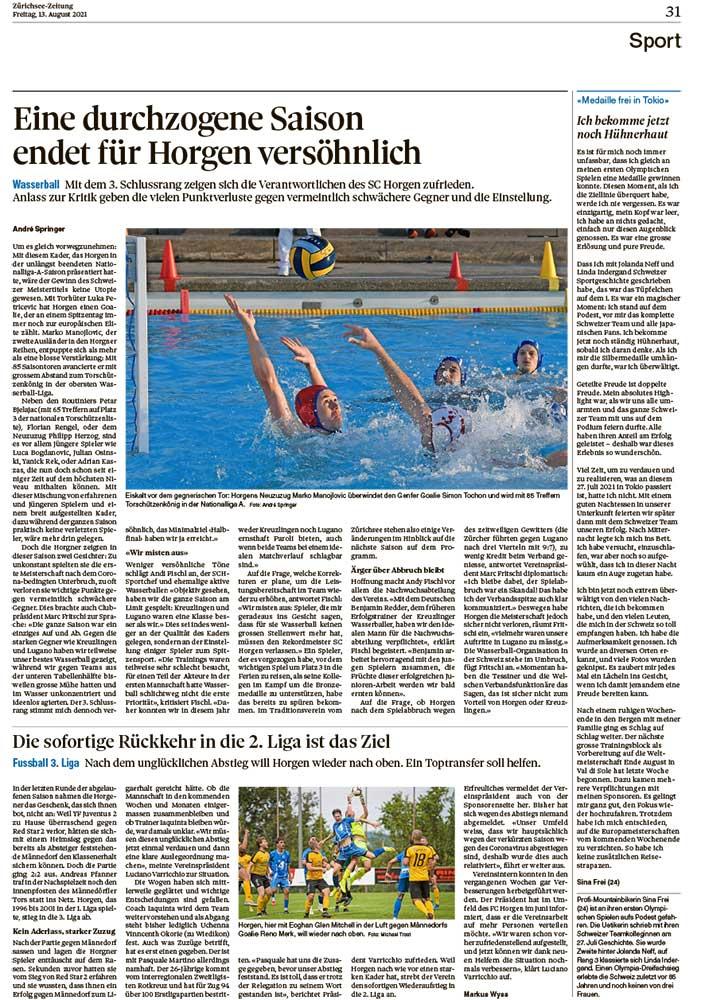 2021-08-13: Zürichsee-Zeitung