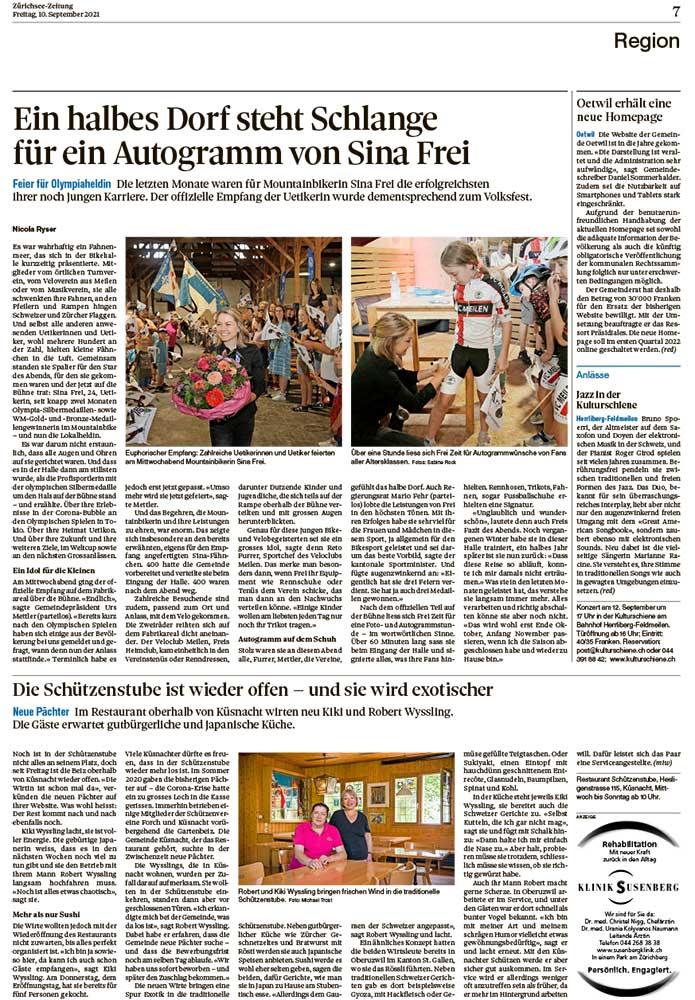 2021-09-10: Zürichsee-Zeitung